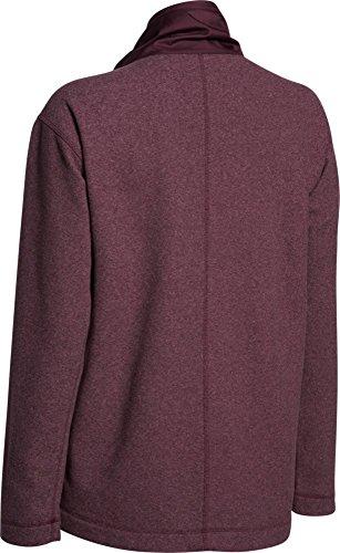 Under armour cGI fitness sweat-shirt the hybrid fleece fZ Rouge - Oxb