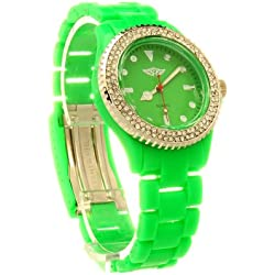 Diamante Fahrenheit Watch in Green