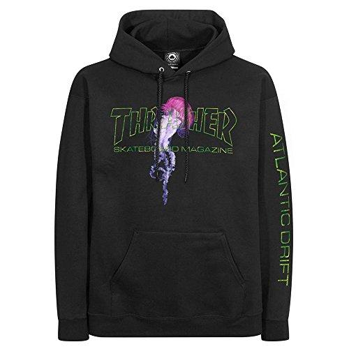 Thrasher Hoodies - Thrasher Atlantic Drift Hoody - Black