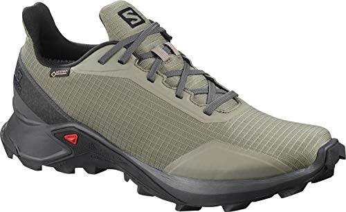 Salomon Alphacross GTX, Zapatillas de Trail Running para Hombre, Verde Castor Gray/Ebony/Black, 44...