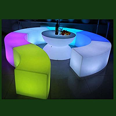 Waterproof fashion hotel bar KTV luminous curved stool can be combined round bar stool - cheap UK light store.