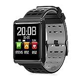 xinxinyu Fitness Reloj de Pulsera, Bluetooth Smart Watches, frecuencia cardíaca, podómetro, calorías, Reloj de Pulsera Deportivo, Monitor de Fitness para Hombres y Mujeres, Color Gris