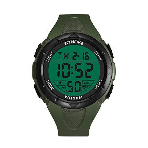 NEEKY Herren Armbanduhr,Sportuhren,Für Unisex Fitness Uhren - Multi Funktions wasserdichte Uhr LED Digital Double Action Watch Smartwatch