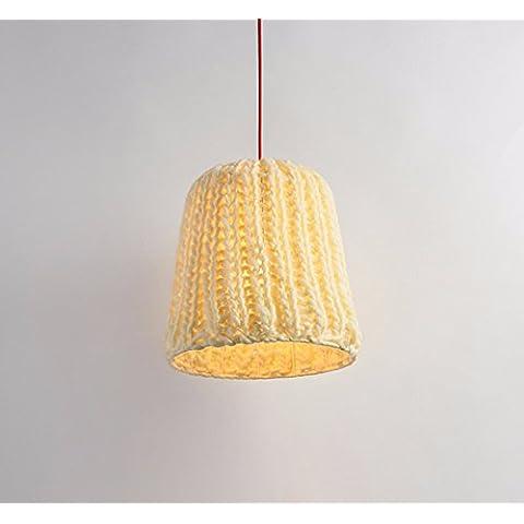 La habitación Restaurante nórdico luz personalidad creativa de los niños luz preciosa araña diseño inalámbrico de felpa, Amarilla, 37,5cm