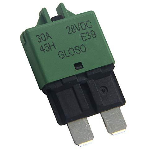 Mini Circuit Breaker (RKURCK 12V-28V DC Manual Reset Low Profile ATC Circuit Breaker Resettable Blade Fuse 30A)