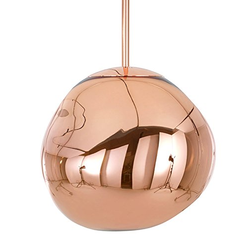 Tom Dixon Design,Moderne Suspension Tom Dixon Melt Mini cuivre Plastique Bio / Compatible pour LED E14 Max. 1 x 25 Watt