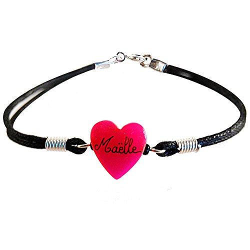 Bracelet enfant personnalisé avec son prénom-Cadeau joli et pas cher. Bracelet  rose- 3a9cd434d52e