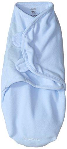 Summer Infant SwaddleMe Micro Fleece Wrap, Blau, Small / Medium (Micro Fleece)