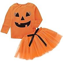 QinMM Camisa Tops + Falda de Halloween para bebé niño a7d9127cd99a
