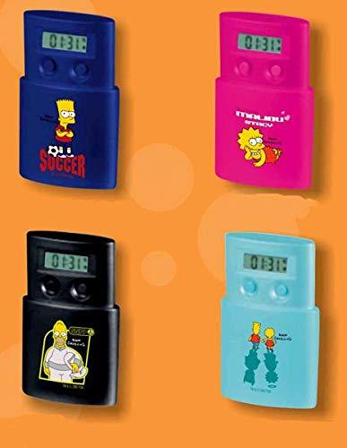 Simpsons Despertador Viaje, 6 cms X 9.5 cms X 2.5 cms ,4 Modelos 1 Unidad aleatoria