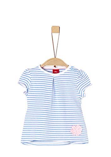 s.Oliver Baby-Mädchen T-Shirt 65.903.32.5434 Blau (Blue Stripes 53g0), Herstellergröße: 80