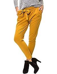 Paperbag Hose in Beige Damen Paperbag Hose Stoffhose Anzug  Hose Anzughose Comfo