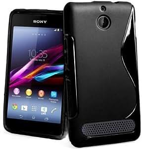 S Line Silicon Back Cover FOR Sony Xperia E1 + HANDSFREE + OTG CABLE FREE