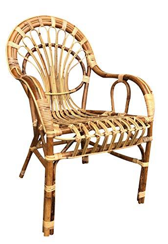 Poltrona sedia per adulti big sole vimini bambù rattan naturale e giunco sole nuova già montata altezza seduta cm 45 profondità della seduta cm 49 altezza totale da terra alla spalliera cm 86