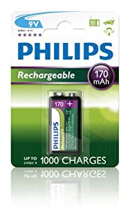 Philips 7R22NM Pile 9 V 170 MAH Rechargeable