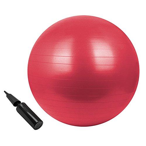 BB Sport Gymnastikball in vielen Farben und Größen Sitzball mit Ballpumpe 85 cm, Farbe:Power Red, Durchmesser:85 cm
