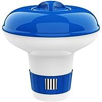 Housolution 5-inch Schwimmender Chlorspender, Große Kapazität Einstellbar Release Tablet Floater Dosierschwimmer Chlordosierer für Innen und Außenpool SPA, Blau & Weiß