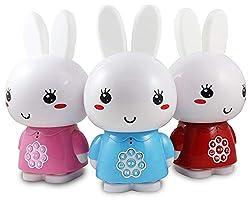 Alilo Honey Bunny (Pink) Edutainment für Ihr Kind LED Baby-Uhr Schlaftrainer + ausgesuchte Geschichten und Lieder in Deutscher Sprache