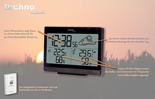 Wetterstation WS 9252 mit Vorhersage der Wetterlage, sowie Innen- und Außentemperatur -
