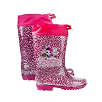 L O L Surprise!   Girls Wellington Boots   Kids Casual Winter Shoes   Warm Cosy Rain Boots   Soft Sole Snow Boots   Cute Glitter Pink Design!  