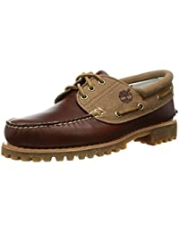 Timberland Men Brown 3 Eye Boat Shoes