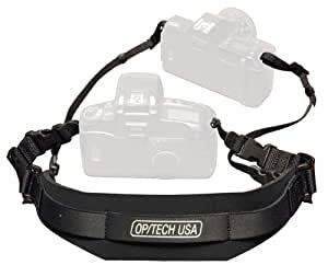 OP/TECH Reporter Strap for Camera - Black