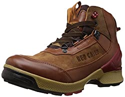 Redchief Mens Glossy Tan Leather Trekking and Hiking Footwear Boots - 6 UK (RC3051 287)