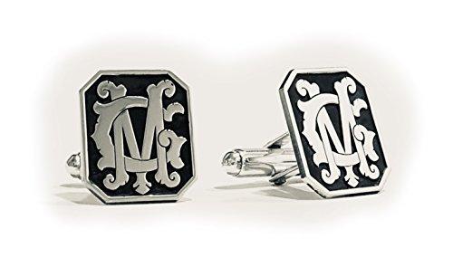 Manschettenknöpfe in Silber mit Initialien