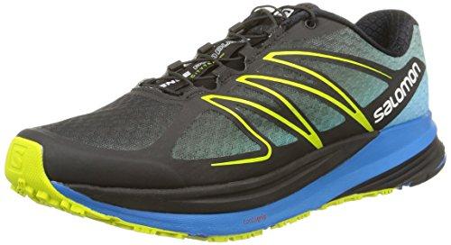 Salomon - Sense Propulse, Sneakers da uomo Nero (Black/Methyl Blue/Gecko Green)