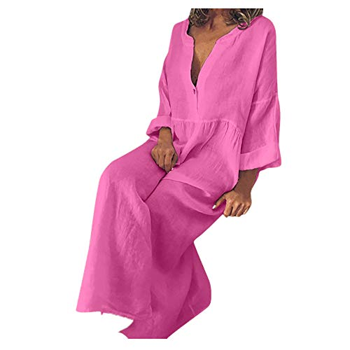ZODOF Mujer vestido largo Bohemian estilo ropa playa