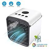 Refroidisseur d'Air Climatiseur Personnel Mobile Air Cooler 4 en 1 Ventilateur...