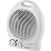 Warmlite WL44002 Upright Fan Heater, Adjustable Thermostat, 2000 W, White
