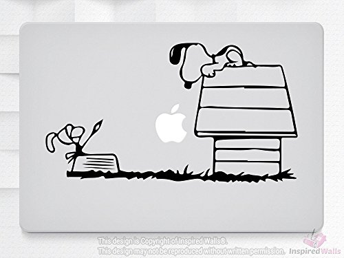 Snoopy And House Laptop MacBook iPad Tablet NoteBook Aufkleber Decal Vinyl Skin by Inspired Walls® (Snoopy Laptop Decal)