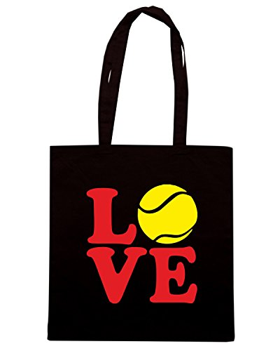 T-Shirtshock - Borsa Shopping OLDENG00678 tennis love Nero