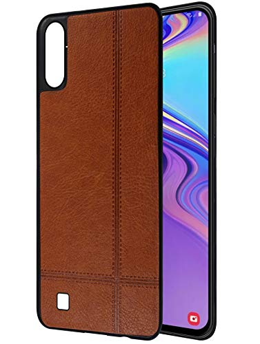 Amazon Brand – Solimo Leather Mobile Cover (Soft & Flexible Back case) for Samsung Galaxy M10 (Brown)