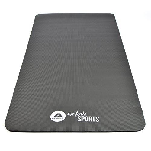 Fitnessmatte 190 x 100 x 1,0 cm - Brahmana - von Apollo, extra große Gymnastikmatte mit Tragegurt aus hochwertigem NBR Schaumstoff für Sport, Gymnastik, Yoga und Pilates - in verschiedenen Farben