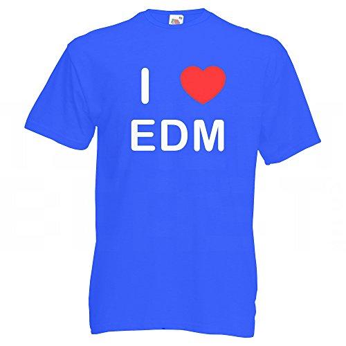 I love EDM - T Shirt Blau