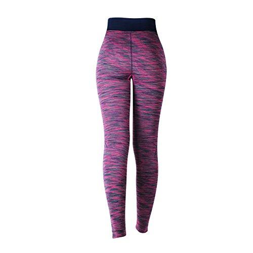 Glamexx24 Damen Workout Sporthose Yoga Pants Fitness Jogginghose Training Leggings Stretch Hose BlauPink879
