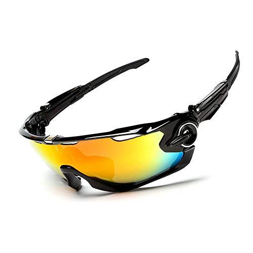 Polarisierte Sportsonnenbrille Herren- und Damenbrille mit polarisierter Motorrad-Schutzbrille Laufen Fahren Angeln Skifahren Golf Baseballbrille 3er-Set Fahrradbrille Sonnenbrille Anti-Fog Ideal zum
