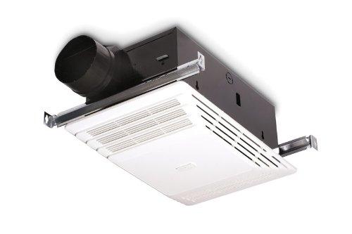 Broan 658 Heater and Fan, 70 CFM 4.0-Sones 1300-Watt, White Grille