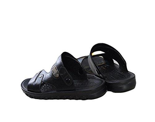 Ein Bißchen Herren Sommer Früling Outdoor Fashion Atmungsaktive casual Sandalen Clogs & Pantoletten Schwarz