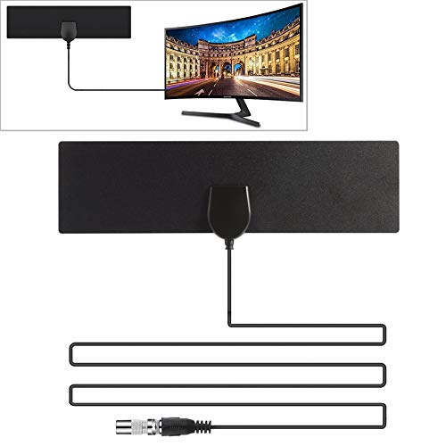 U&TE HD Digital-TV-Antenne, 25 Meilen Reichweite 28dBi High Gain Amplified Digital-HDTV Indoor Outdoor-TV-Antenne mit 3,7 m Koaxialkabel & IEC-Adapter