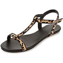 FYios Moda de verano mujer zapatillas, chanclas y sandalias de playa, zapatillas antideslizante,38,Rosa roja