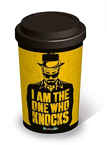 "Breaking Bad - Tazza da viaggio, in ceramica, scritta: ""I Am the One Who Knocks"""