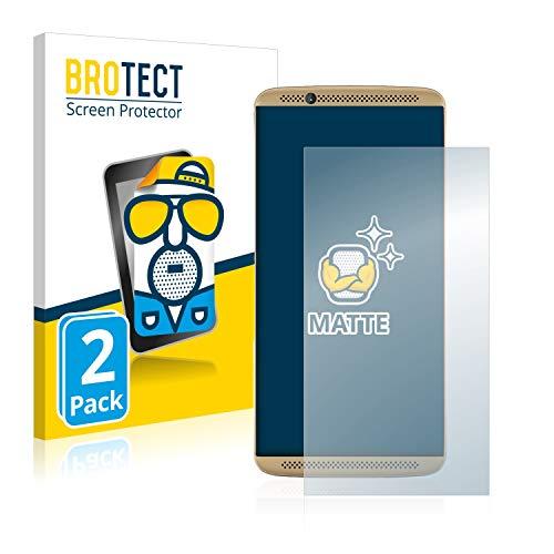 BROTECT Schutzfolie Matt kompatibel mit ZTE Axon 7 [2er Pack] - Anti-Reflex