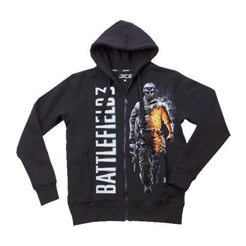 Preisvergleich Produktbild Battlefield 3 Zip-Kapuzensweater - Smoking Soldier schwarz in M