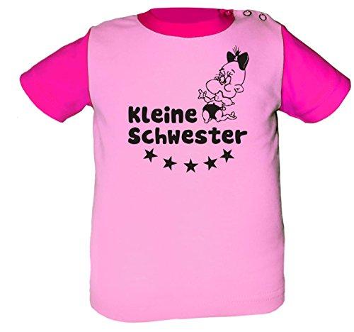 Baby Shirt Multicolor (Farbe rosa-pink) (Größe 76-86) Kleine Schwester /COOK