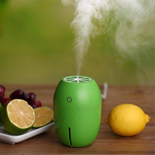 Cool Mist Luftbefeuchter Zitrone Ultraschall USB Mute Luftreiniger Für Home Spa Schlafzimmer Baby Zimmer 4 Stunden Automatische Abschaltung und Nacht Licht Funktion , 4 (Nacht Zitrone Licht)