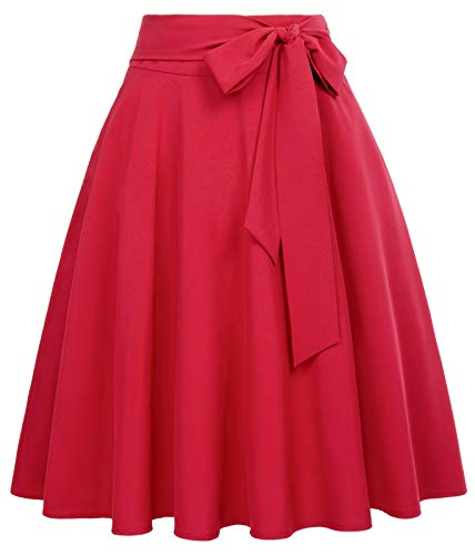 Belle Poque Falda Mujer 50s Retro Elegante Rockabilly Enaguas L