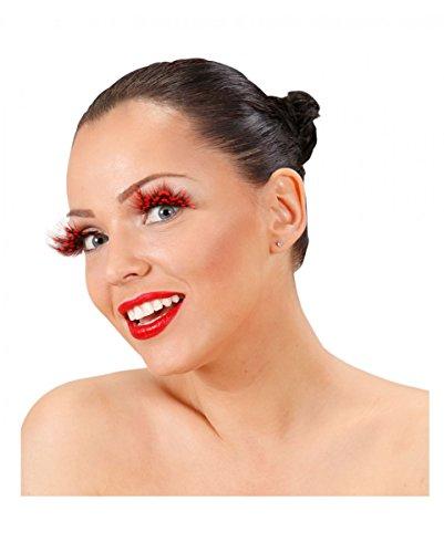 Horror-Shop Künstliche Marienkäfer Feder-Wimpern als Kostüm-Accessoires